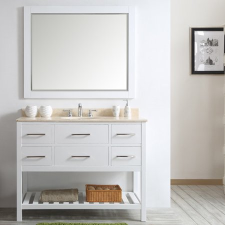 Willa Arlo Interiors Trond 48 39 39 Single Vanity Set With Rectangular Mirror