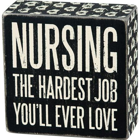 Box Sign - Nurse - School Nurse Office Decor