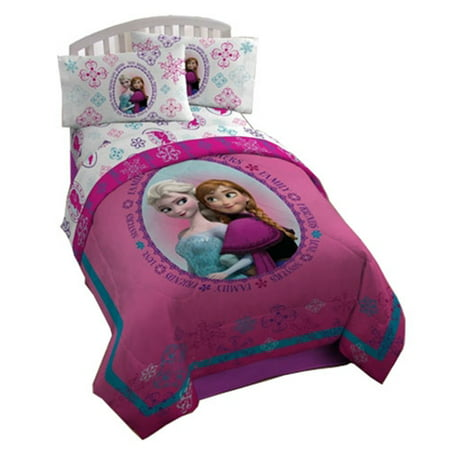 Disney Frozen Anna and Elsa Snowflake Fleece Blanket