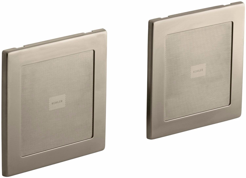 KH K-8033-BV SoundTile Speakers (Pair of Speakers) Vibrant Brushed Bronze by Kohler