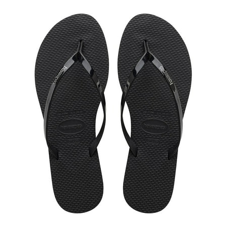 Slim Metallic Flip-Flops