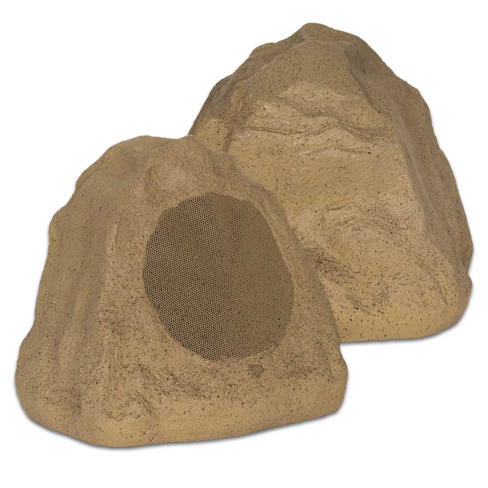 Theater Solutions 2R6S 6.5-Inch Outdoor Rock Speakers (Sandstone)