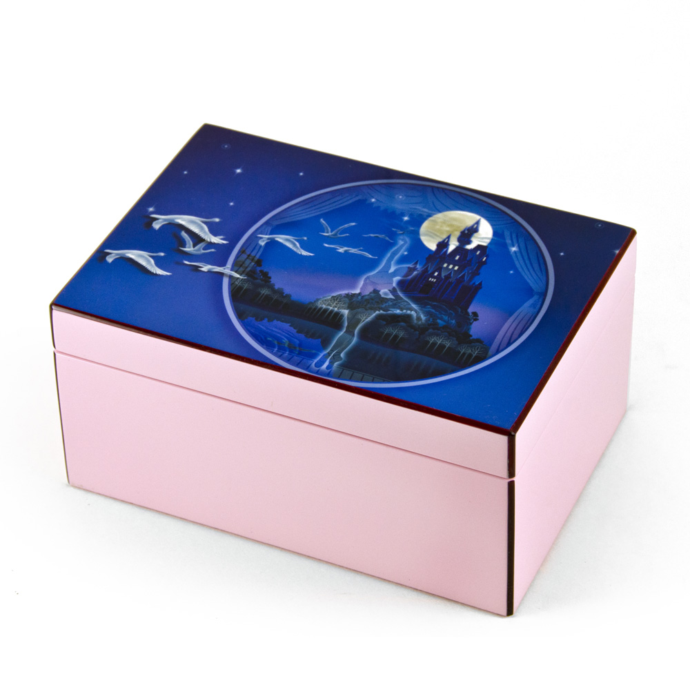 Hi-Gloss Pink and Purple Enchanted Ballet Musical Jewelry Box By Twinkle™ - Up Where We Belong - SWISS