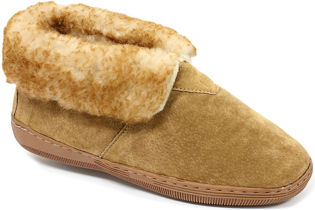 Lamo Men High Cut Bootie Slippers by Lamo Sheepskin Inc.