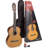 Stagg C440 M NAT PACK Classical Guitar Pack with Tuner and Gig Bag Included