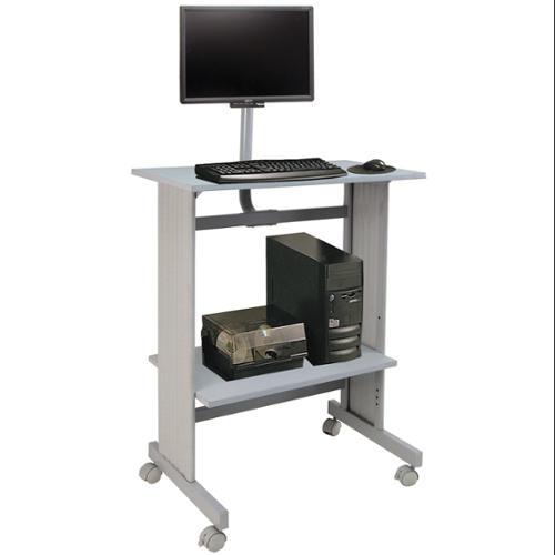 Standup Height Workstation with LCD Mount (Gray Steel)