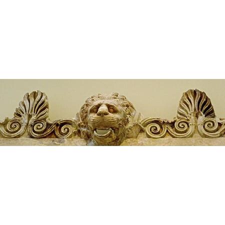 - Laminated Poster Sandstone Sculpture Bas-Relief Roman Carving Lion Poster Print 11 x 17