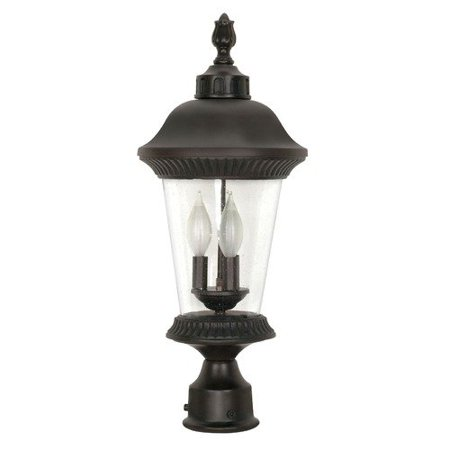nuvo 60 970 clarion outdoor lighting lamps 9in chestnut bronze clear