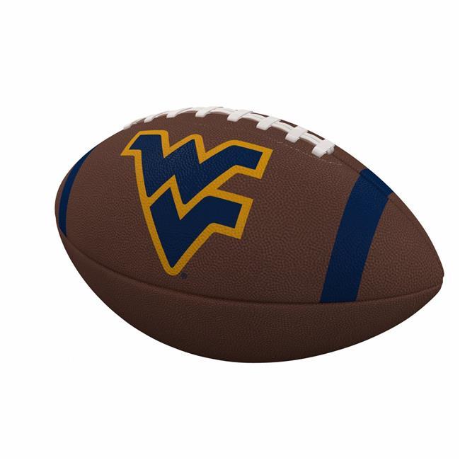 West Virginia Team Stripe Official-Size Composite Football