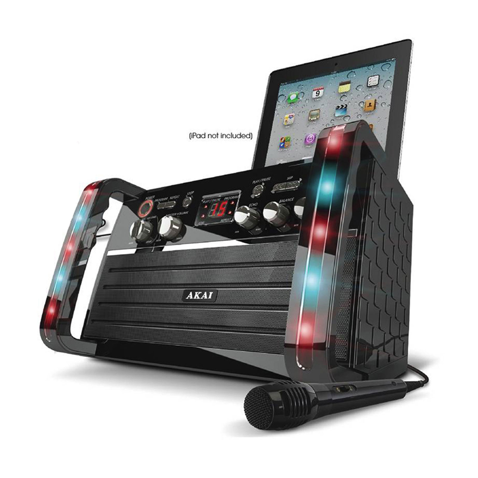 Akai CDG Portable Karaoke System with iPad Cradle and Line Input