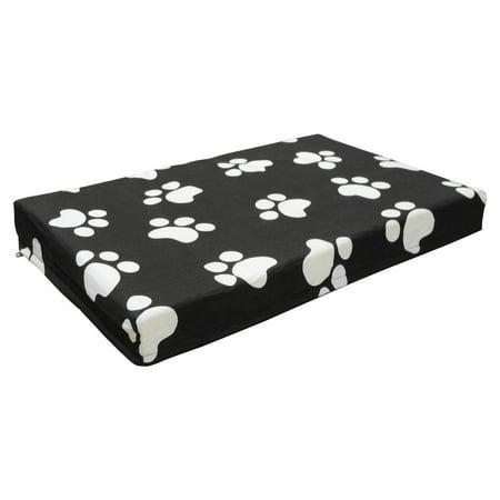 Go Pet Club Memory Foam Orthopedic Dog Pet Bed - Black