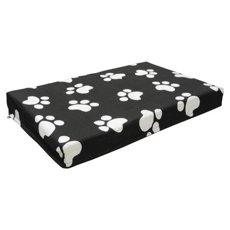 Dog Lovers Club - Go Pet Club Memory Foam Orthopedic Dog Pet Bed - Black
