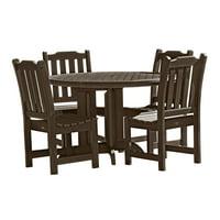highwood Eco-Friendly Recycled Plastic Lehigh 5pc Round Dining Set