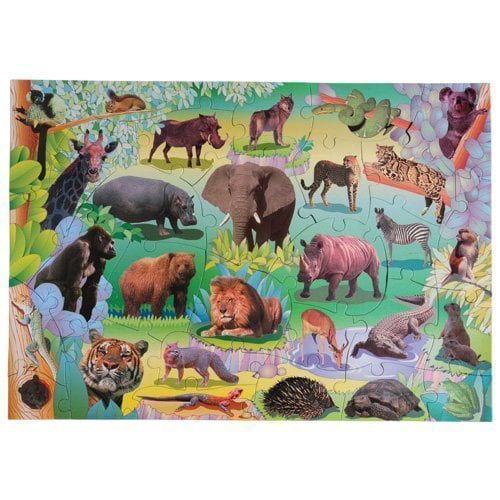 Wildlife Floor Puzzle..., By Small World Toys Ship from US by