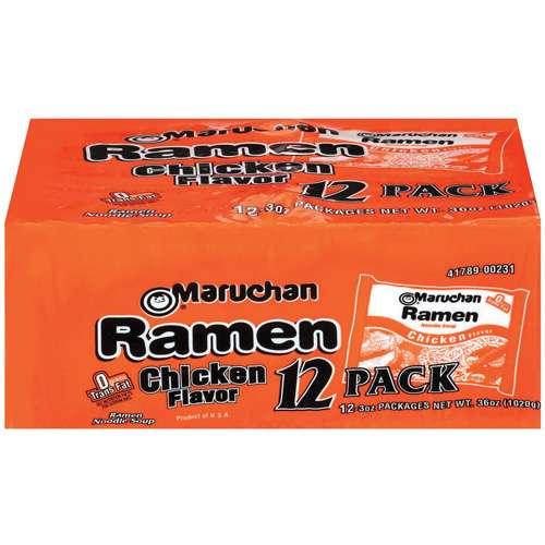Maruchan Instant Lunch Chicken Flavor, 12 ct, 36 oz