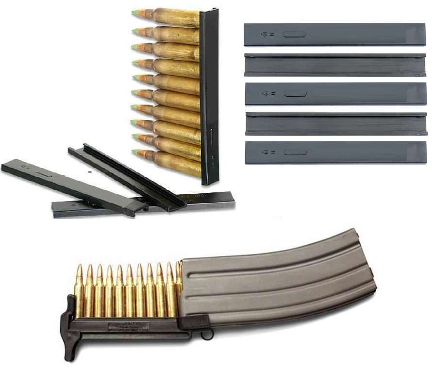 Maglula SL50B Strip Lula Rapid Fast Speed Loader + Ultimate Arms Gear USA Made Set of 100 Pack Nylon .223 5.56mm 10 RD... by