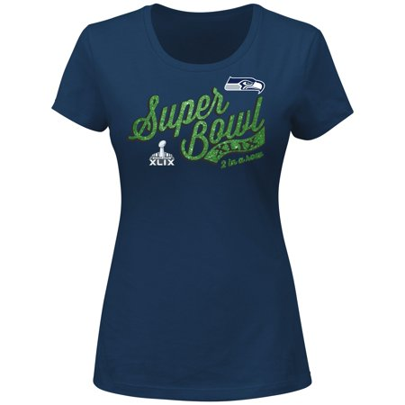 Seattle Seahawks Womens Majestic Nfl Super Bowl Xlix  At The Show  S S T Shirt