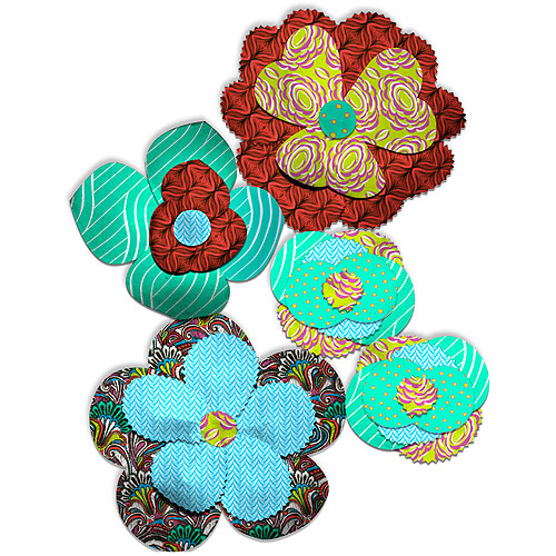 Creative Cuts Fabric Flower Petal Kit, Plaid