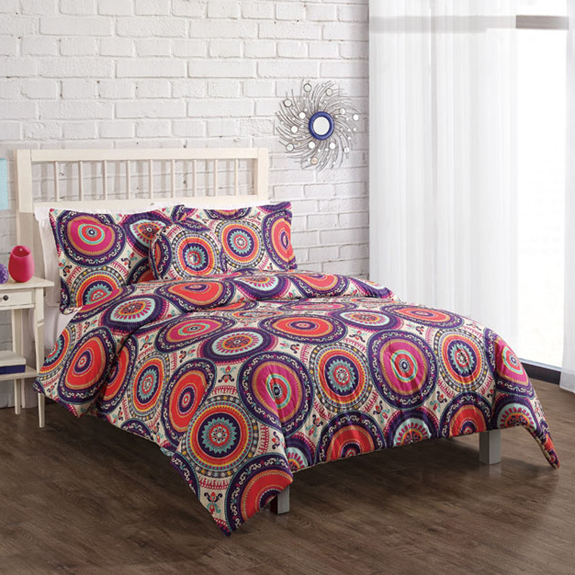 Nina Boho Bedding Comforter Set, Orange