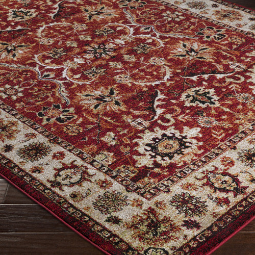 World Menagerie Brahim Red Brown Area Rug Walmart Com