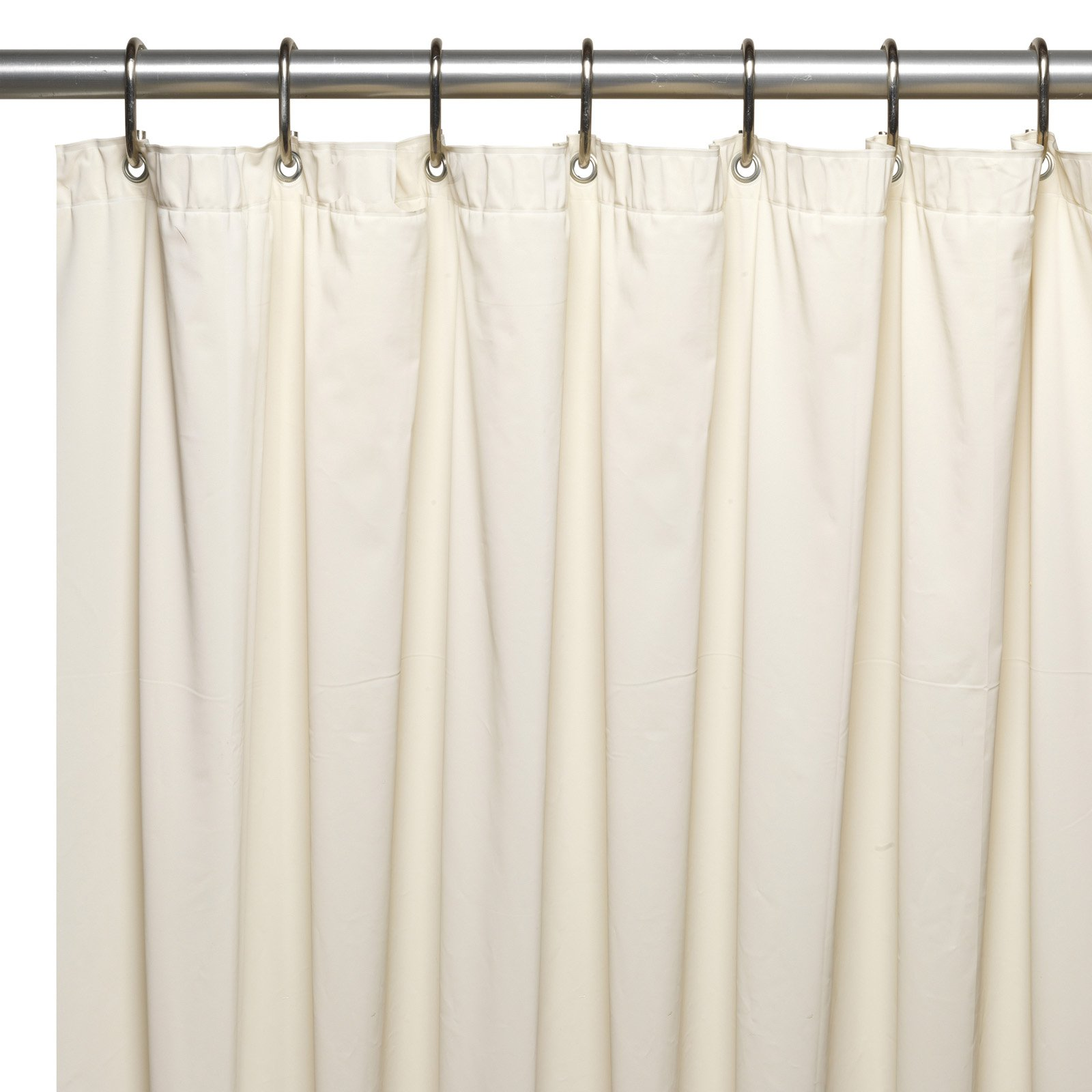 Extra Long 70 X 84 Mildew Resistant 10 Gauge Vinyl Shower Curtain Liner W Metal Grommets And Reinforced Mesh Header In Super Clear
