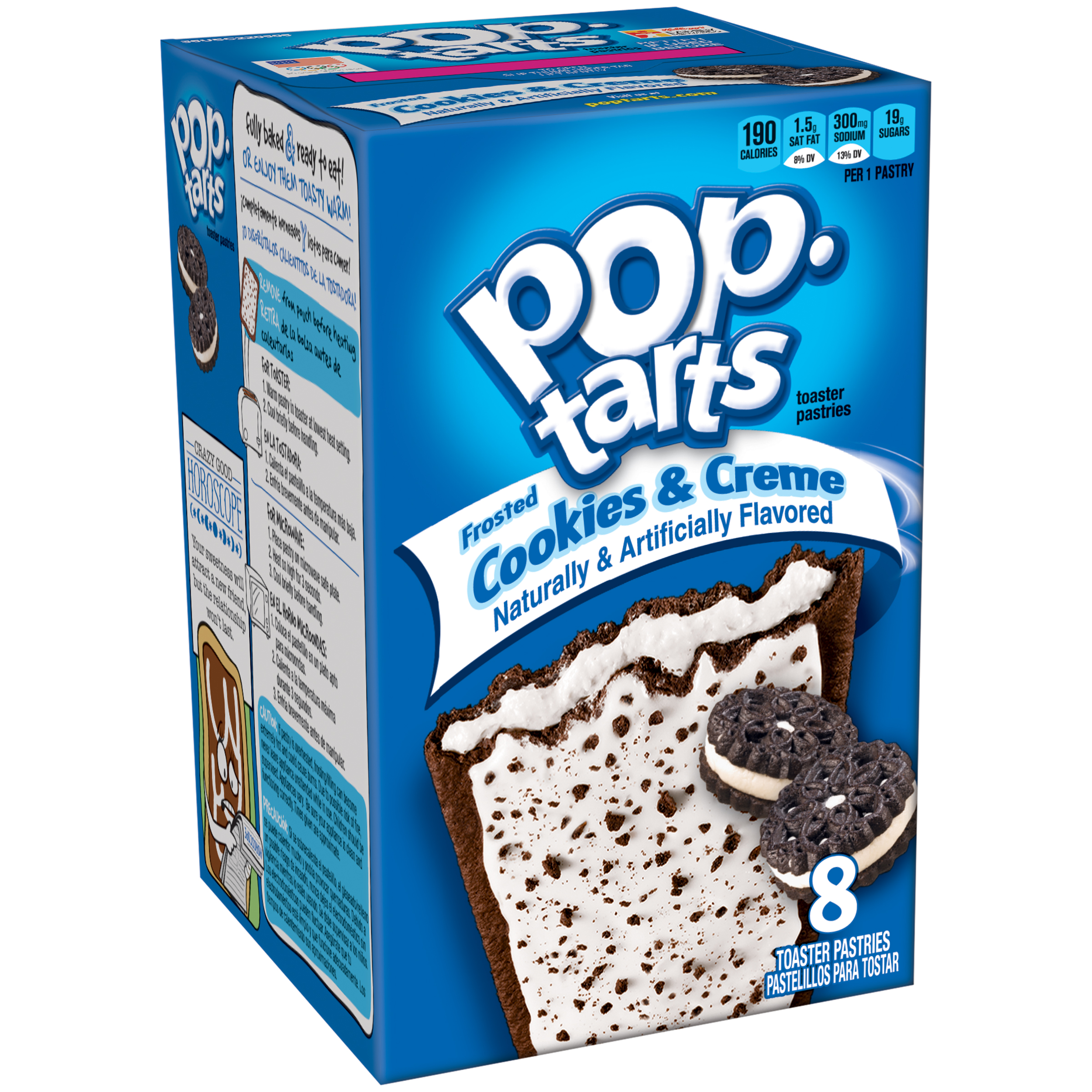 Kellogg's Pop-Tarts Frosted Cookies & Creme Toaster Pastries, 14.1 oz