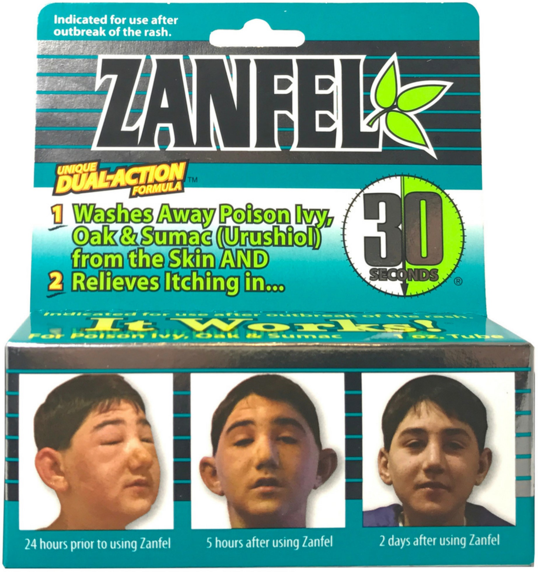 4 Pack - Zanfel Wash For Poison Ivy, Oak & Sumac (Urushiol) 1 oz