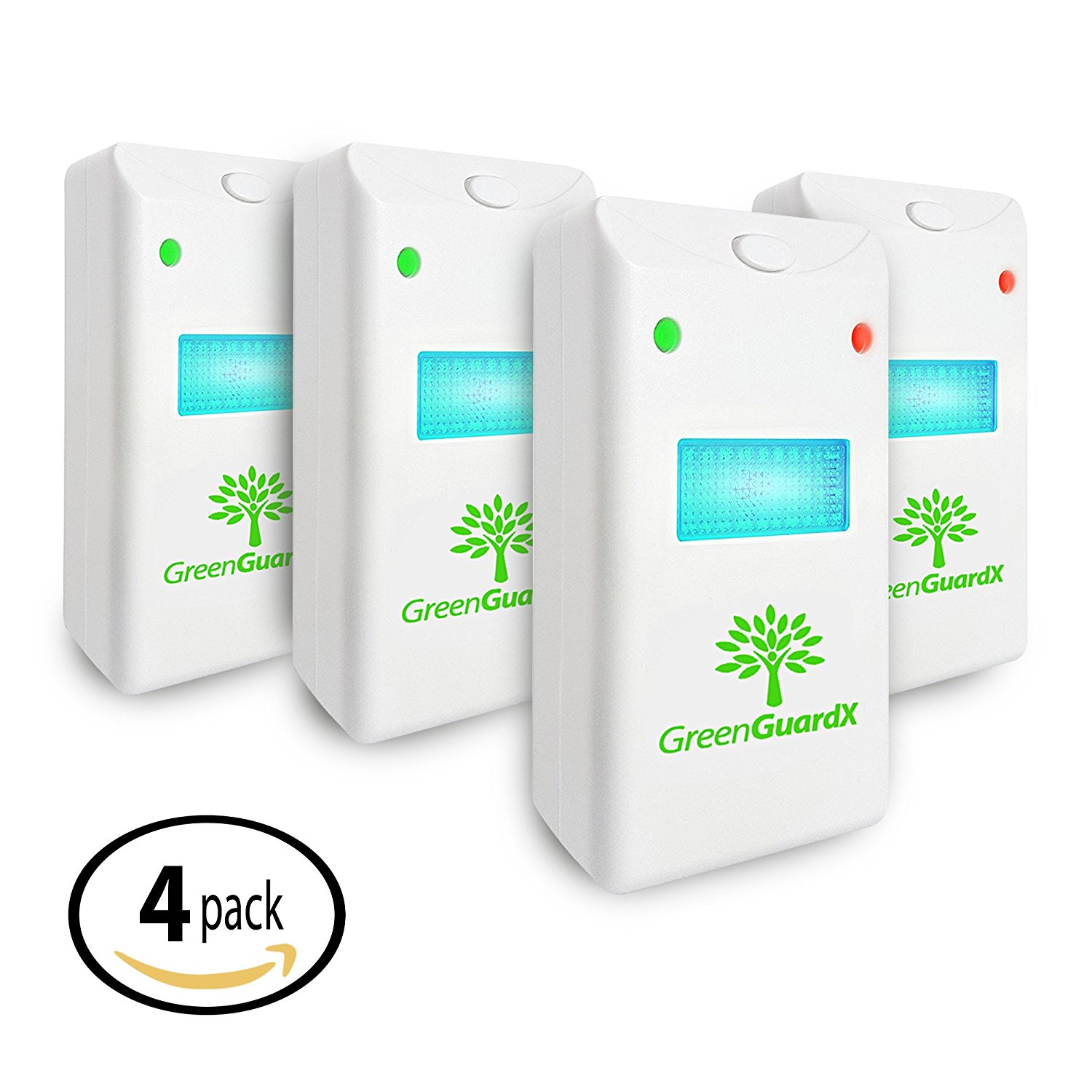 "Ultrasonic Pest Control Repeller (4-Pack)""Indoor Repellent for Mice, Mosquitos, Roaches, Spiders, Insects, & Rodents "" Ecofriendly Bug Repeller""Children & Pet Safe, Non-Toxic (Upgraded)"