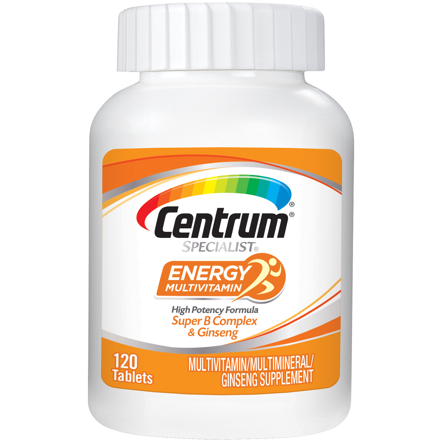 Centrum Specialist Energy Vitamin Multivitamin Multimineral Supplement With Super B Complex Vitamins And Ginseng 120 Count Walmart Com Walmart Com