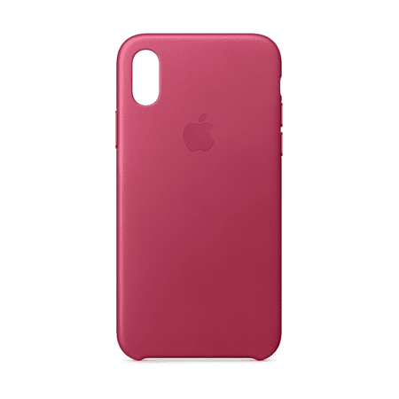 buy popular 26322 a5b35 Apple Leather Case for iPhone X - Pink Fuchsia