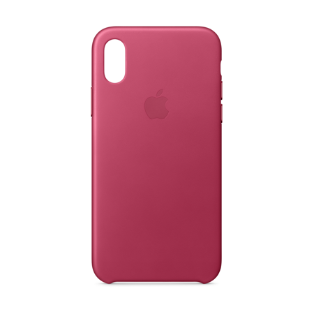 buy popular 0be99 e2ed3 Apple Leather Case for iPhone X - Pink Fuchsia