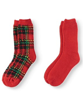 Hot Feet Women's 2 Pairs Heavy Thermal Socks - Thick Insulated Crew for Cold Weather