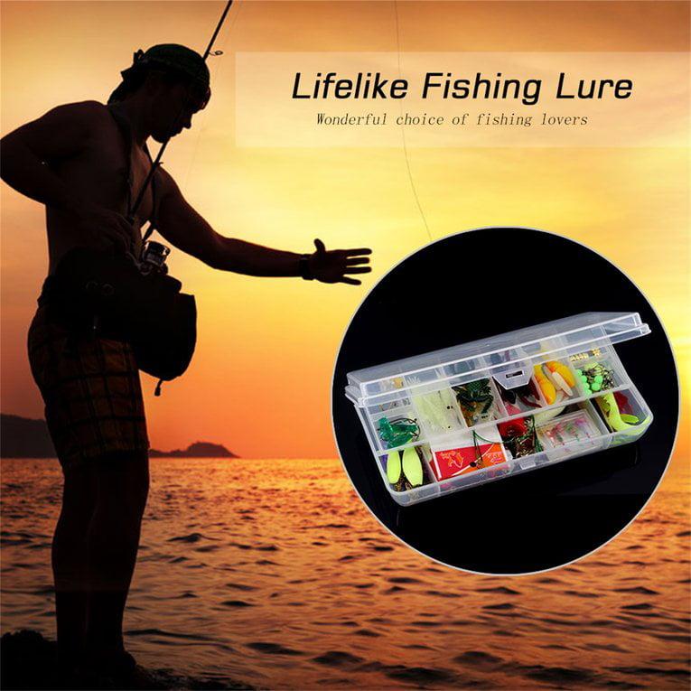 100Pcs Set Fishing Tackle Fishing Lure Bait Tackle Suit Fishing Tool Set by