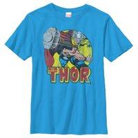 Marvel Boys' Mighty Thor Hammer Throw T-Shirt