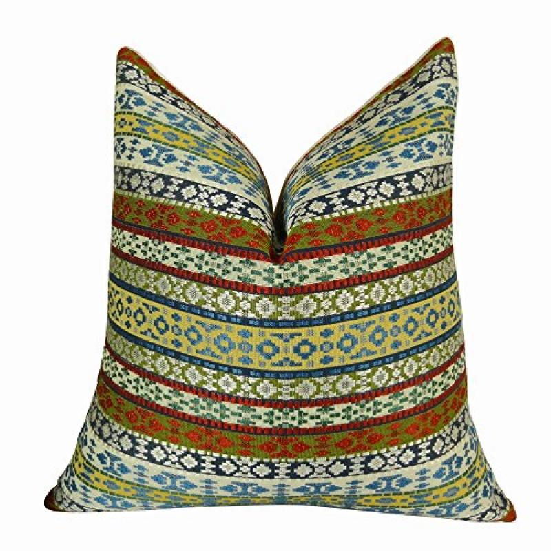 "Plutus Fun Stripes Handmade Throw Pillow, (Double sided 12"" x 20"") - image 1 de 1"