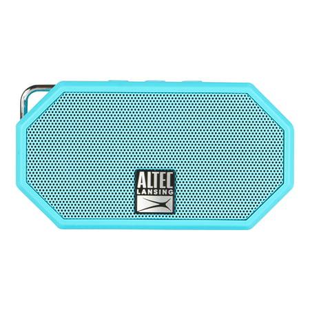 Image of Altec Lansing iMW257 Mini H20 Bluetooth Speaker, Aqua Blue