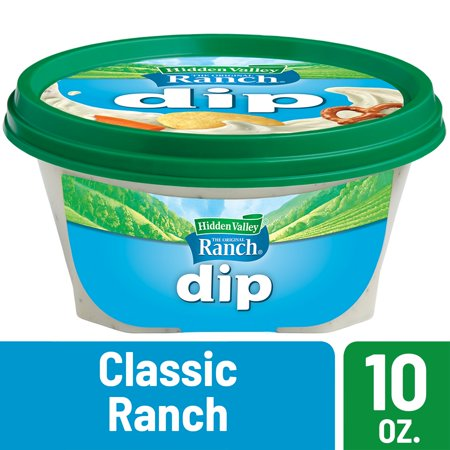 Salad Dip - (2 Pack) Hidden Valley Ready-to-Eat Dip, Classic Ranch - 10 Ounces