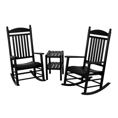 POLYWOOD® Jefferson 3 pc. Recycled Plastic Rocker Set with Side Table