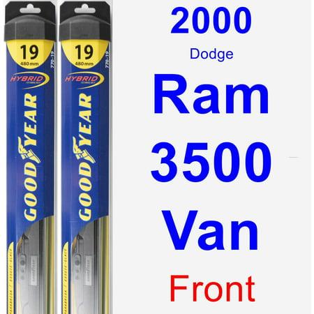 2000 Dodge Ram 3500 Van Wiper Blade Set/Kit (Front) (2 Blades) - Hybrid