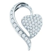 Gold and Diamonds P3A110-W 0. 75CT-DIA FASHION PENDANT- Size 7