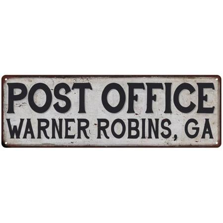 Warner Robins Ga Post Office Vintage Look Metal Sign Chic Retro 6182535