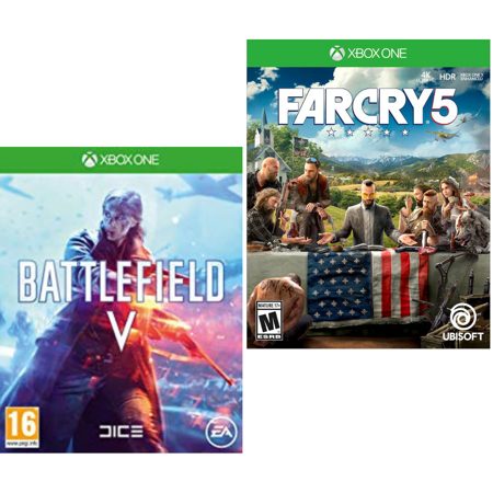 Xbox One Game Far Cry 5 + Battlefield V: Fight and Fire with Other (Best 4 Player Local Xbox One Games)