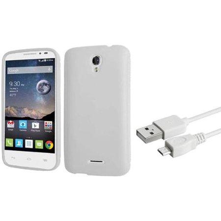 Insten Gel Case For Alcatel One Touch Pop Astro White