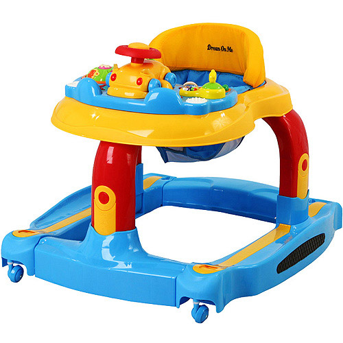 Dream On Me - 2-in-1 Baby Tunes Musical Activity Walker and Rocker, Yellow