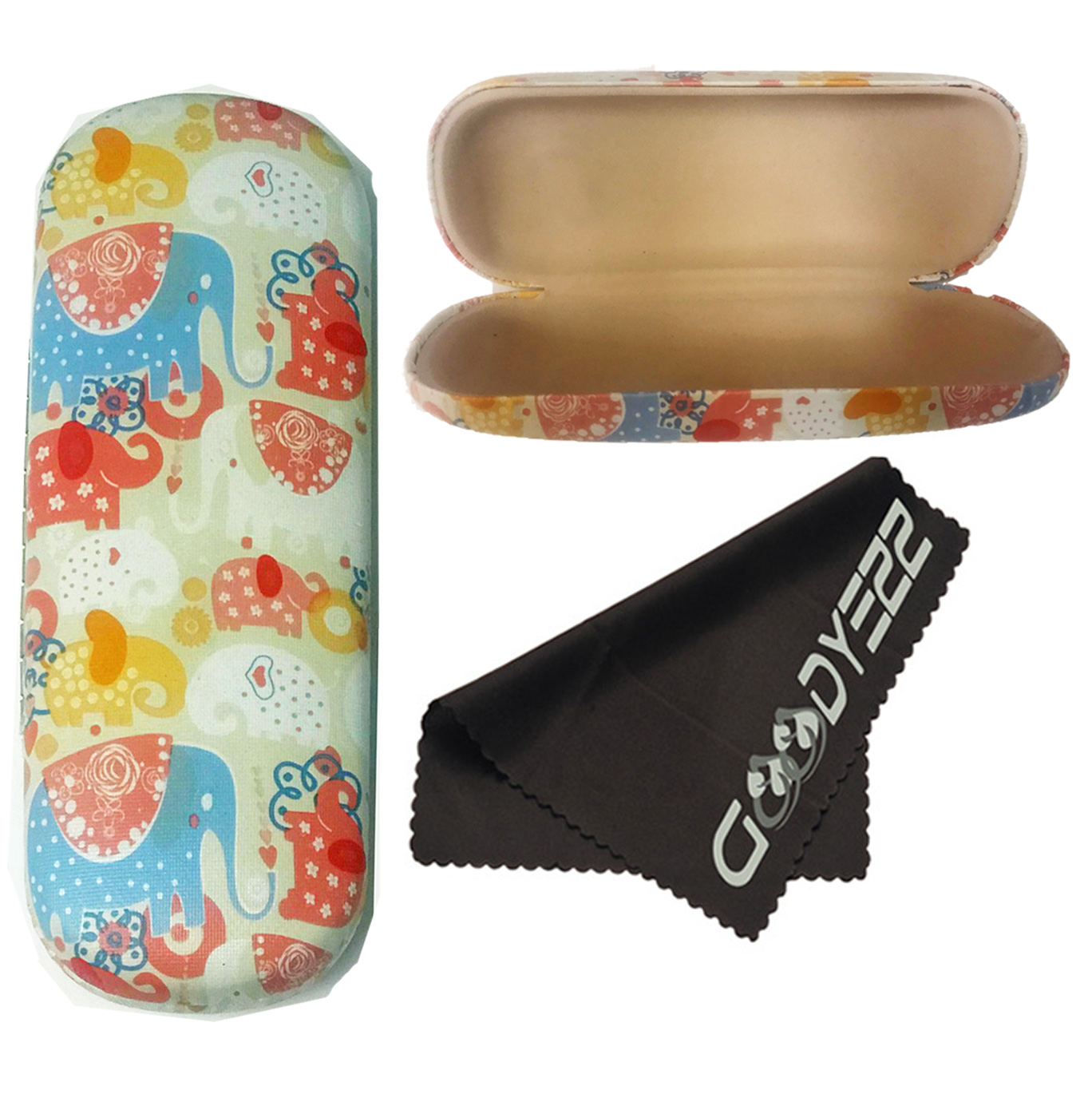 Protective Case for Glasses Sunglasses Holder With Cleaning Cloth Glasses Case Hard Shell