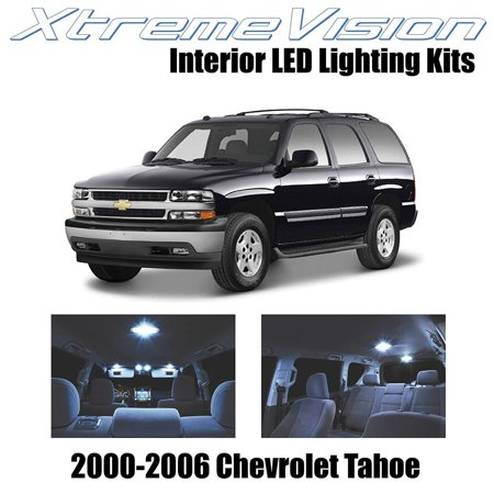 XtremeVision LED for Chevy Tahoe 2000-2006 (18 Pieces) Cool White Premium Interior LED Kit Package + Installation (Tahoe Tub Package)