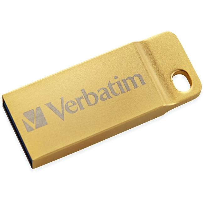 Verbatim 32GB Metal Executive USB 3.0 Flash Drive  Gold