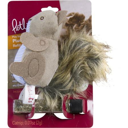 Petlinks® Plush Player™ Squirrel Refillable Catnip Cat Toy