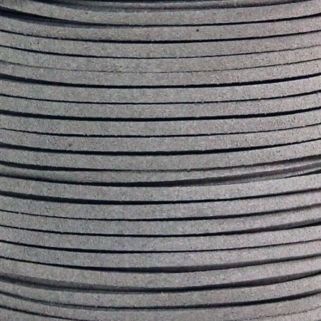 YORKLYN Faux Suede Leather Cord 2.6mm String (100 yard / 90 meter) (Gray)
