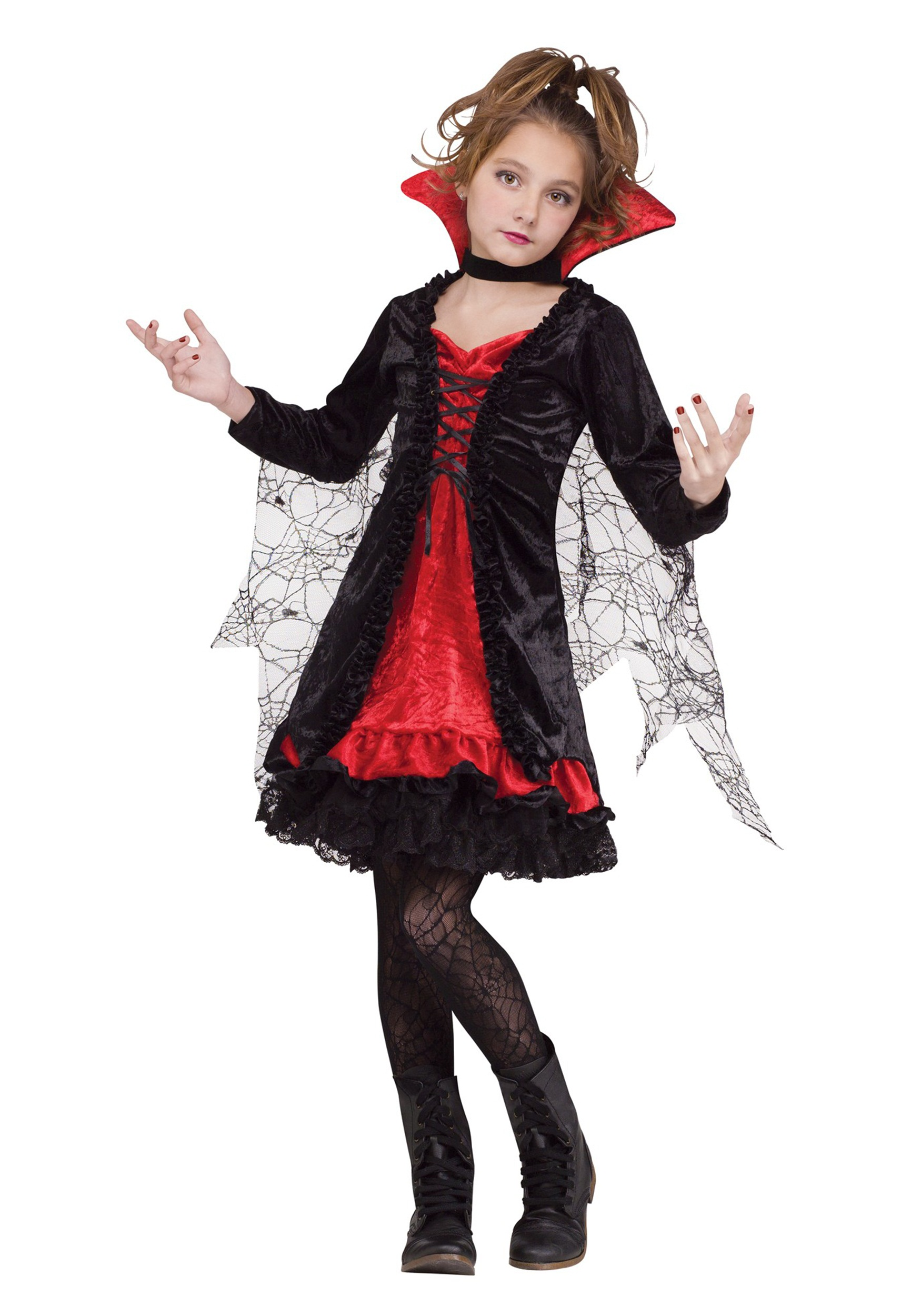 Halloween Vampire Costume Kids.Vampire Girl Child Costume